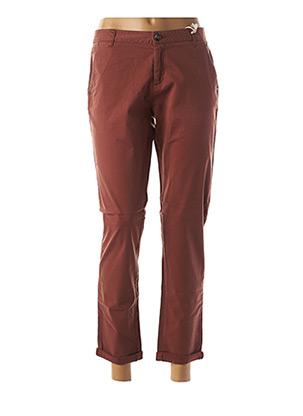 Pantalon 7/8 marron DDP pour femme