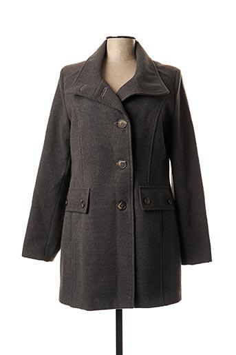 Manteau long gris FSH pour femme