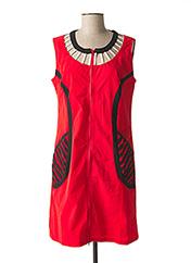 Robe mi-longue rouge L33 pour femme seconde vue