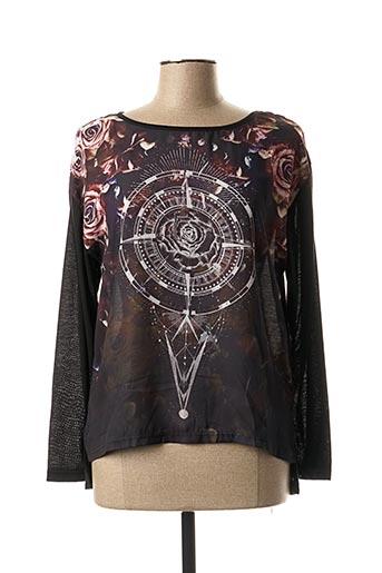 T-shirt manches longues noir EMOI BY EMONITE pour femme