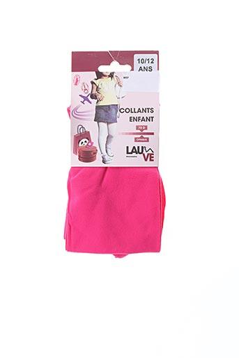 Collants rose LAUVE pour fille