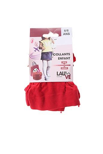 Collants rouge LAUVE pour fille