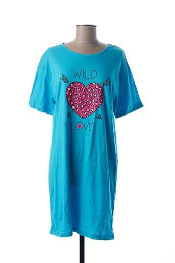 Chemise de nuit bleu MELISSA BROWN pour femme