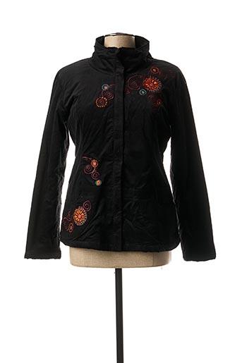 Manteau court noir COLINE pour femme