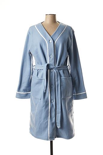 Robe de chambre bleu ARY & BELLE pour femme