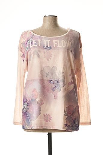 T-shirt manches longues rose EMOI BY EMONITE pour femme