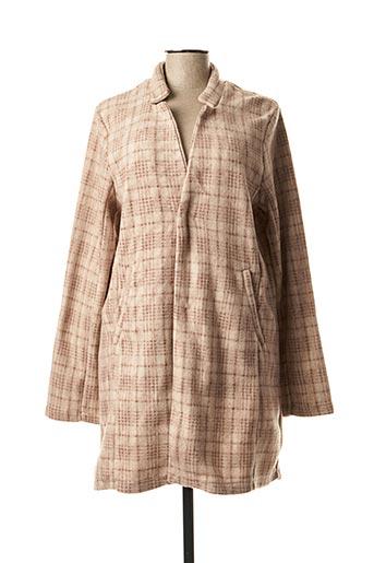 Manteau long beige EMOI BY EMONITE pour femme