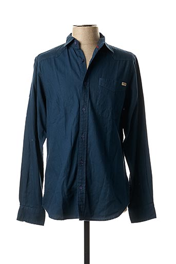 Chemise manches longues bleu EBOUND pour homme