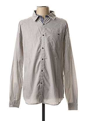Chemise manches longues gris OAKS VALLEY pour homme