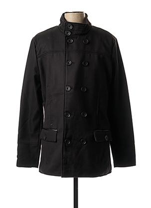 Manteau court noir RG512 pour homme