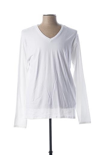 T-shirt manches longues blanc EBOUND pour homme