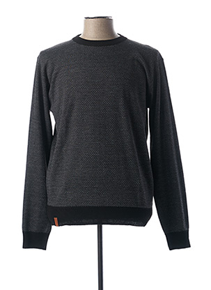 Pull col rond gris OAKS VALLEY pour homme