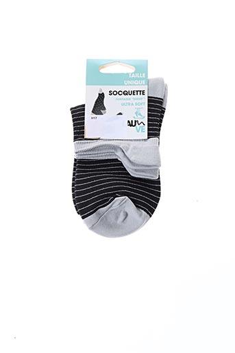 Chaussettes noir LAUVE pour femme