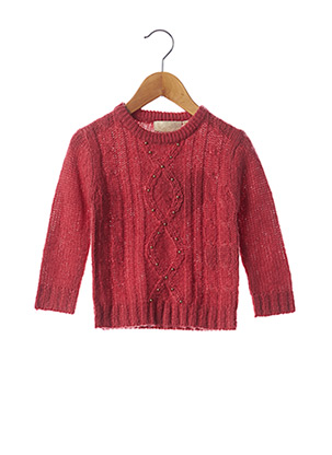 Pull col rond rose KNOT SO BAD pour fille