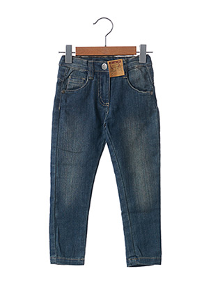 Jeans coupe slim bleu KNOT SO BAD pour fille