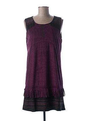 Robe courte violet COLLINE pour femme
