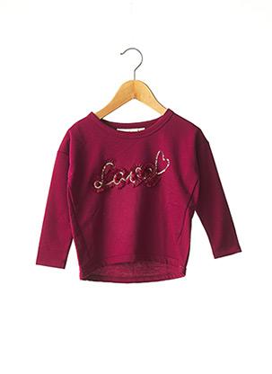 T-shirt manches longues violet KNOT SO BAD pour fille