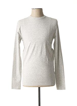 T-shirt manches longues gris EBOUND pour homme