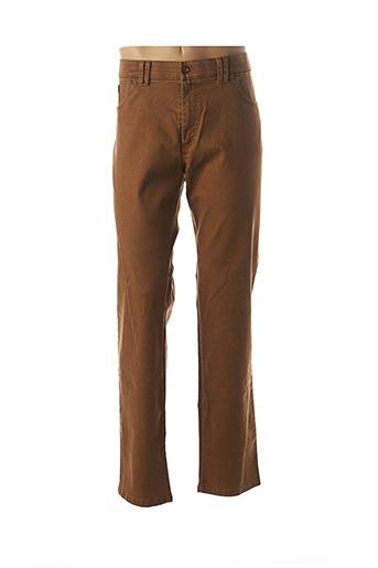 Jeans coupe droite marron LCDN pour homme