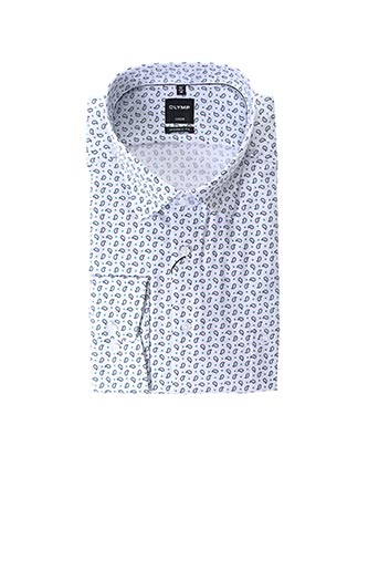 Chemise manches longues vert OLYMP pour homme