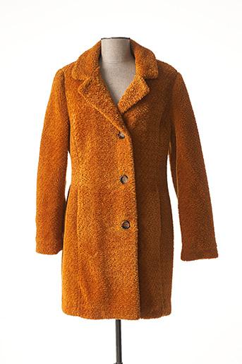 Manteau long orange BARBARA LEBEK pour femme