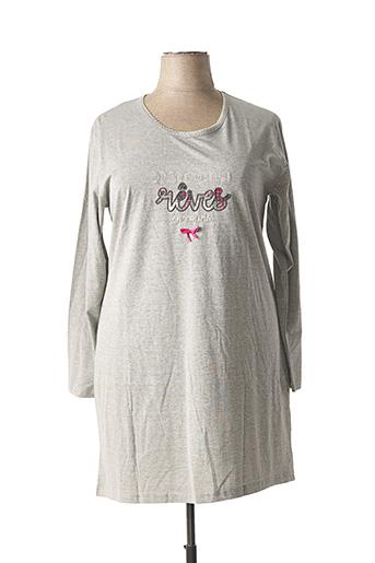 Chemise de nuit gris ROSE POMME pour femme