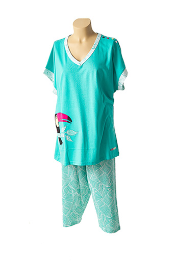 Pyjama vert ROSE POMME pour femme