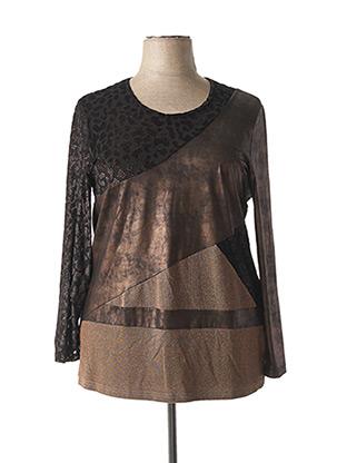 T-shirt manches longues marron MERI & ESCA pour femme