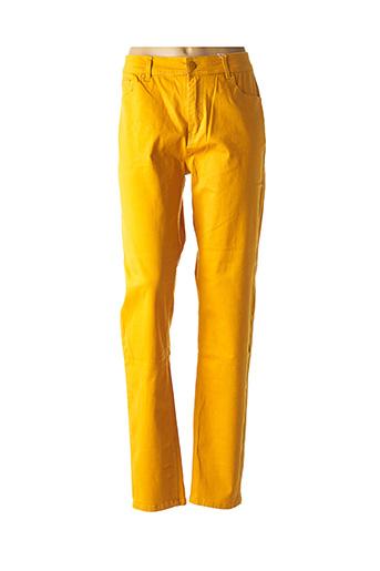 Jeans coupe droite jaune GEVANA pour femme