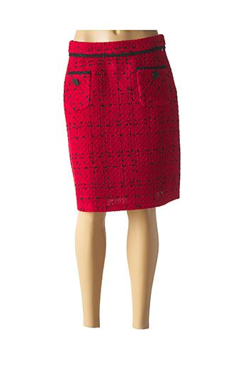 Jupe mi-longue rouge PAUSE CAFE pour femme