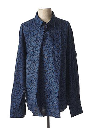 Chemise manches longues bleu BELLONI pour homme