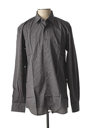 Chemise manches longues gris JEAN CHATEL pour homme