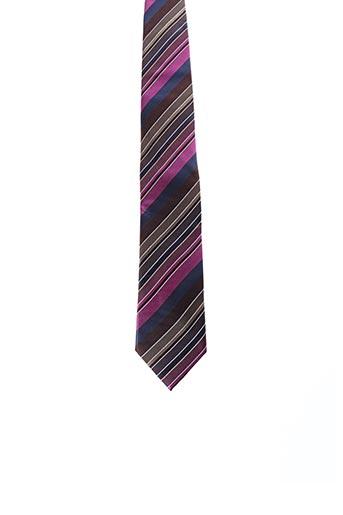 Cravate rose JEAN CHATEL pour homme