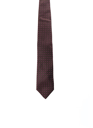 Cravate marron JEAN CHATEL pour homme