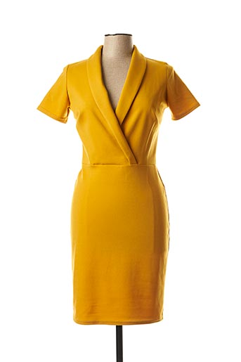 Robe mi-longue jaune FILLE A SUIVRE pour femme