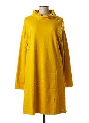 Robe pull jaune MALOKA pour femme