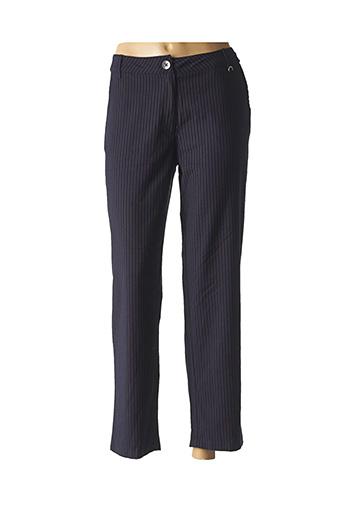 Pantalon chic bleu AGATHE & LOUISE pour femme