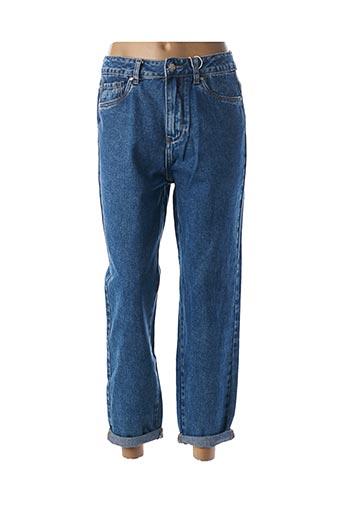 Jeans boyfriend bleu HELLO MISS pour femme