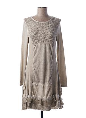 Robe longue beige MALOKA pour femme