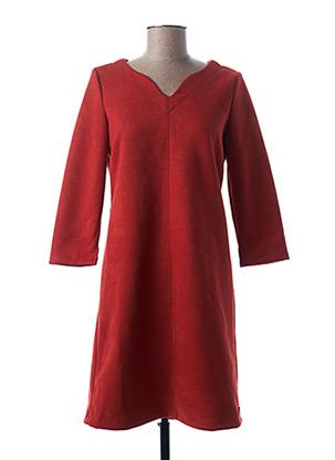 Robe mi-longue orange GARCIA pour femme