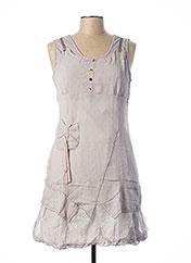 Robe mi-longue gris L33 pour femme seconde vue