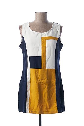 Robe courte bleu L33 pour femme