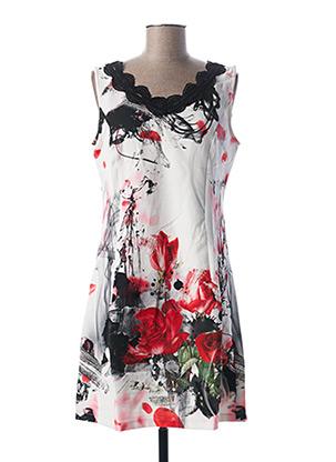 Robe mi-longue blanc L33 pour femme