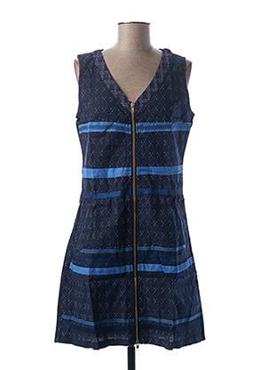 Robe mi-longue bleu L33 pour femme