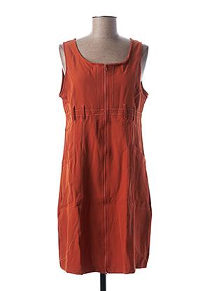 Robe mi-longue orange L33 pour femme