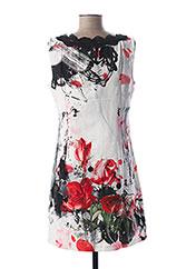 Robe mi-longue blanc L33 pour femme seconde vue