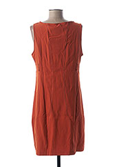 Robe mi-longue orange L33 pour femme seconde vue