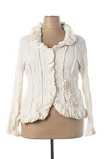 Veste chic / Blazer beige L33 pour femme