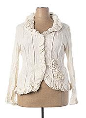 Veste chic / Blazer beige L33 pour femme seconde vue