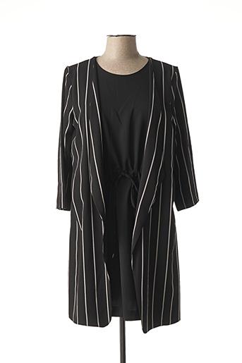 Robe courte noir ELEONORA AMADEI pour femme